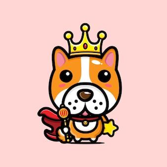 Simpatico personaggio del re del cane