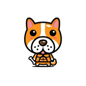Simpatico personaggio mascotte cane design