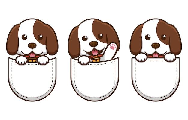 Simpatico cane nel design tascabile