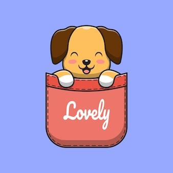 Simpatico cane in tasca