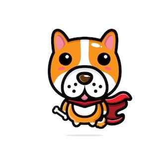 Simpatico personaggio di supereroi per cani