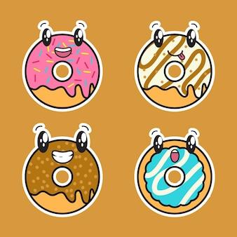 Simpatico set di ciambelle kawaii
