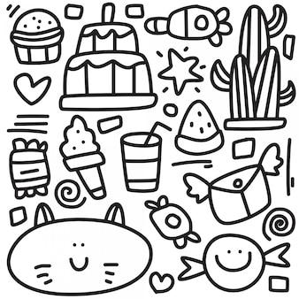 Illustrazione sveglia di progettazione di scarabocchio