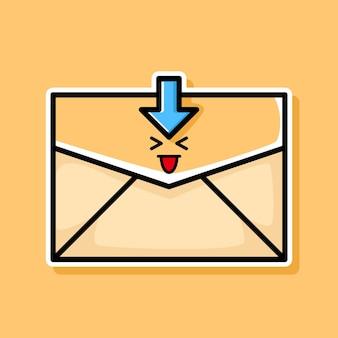 Simpatico disegno di cartone animato e-mail scaricato