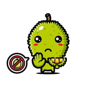 Carino durian è in posa di arresto