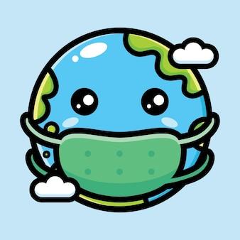 Simpatico design dei personaggi della terra