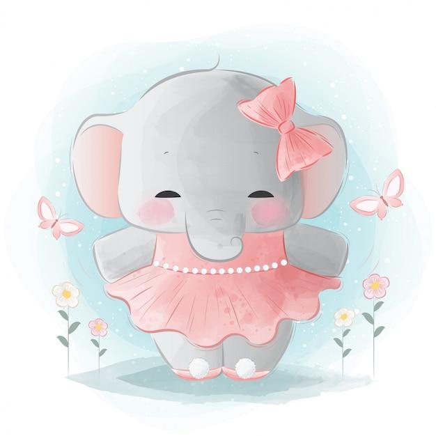 Elefante carino ballerina