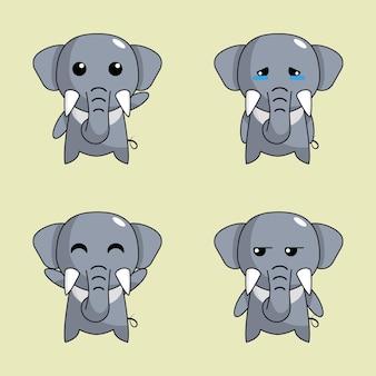 Simpatico set di elefanti