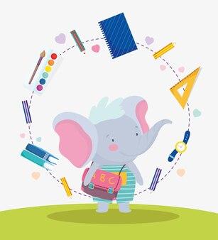 Simpatico elefante con borsa