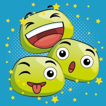 Icone del fumetto carino emoji
