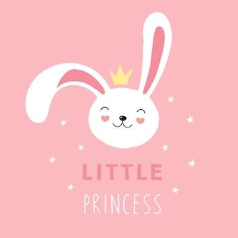 Faccia carina di un coniglio bianco, coniglio, piccola principessa.