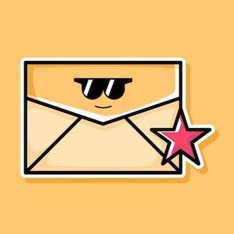 Simpatico design di cartoni animati per e-mail preferiti