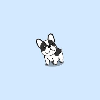 Simpatico cartone animato bulldog francese, illustrazione vettoriale