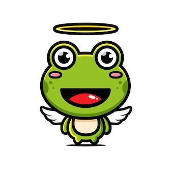 Simpatico personaggio di angelo rana design