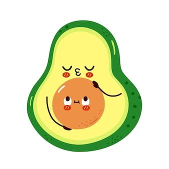 Carino divertente avocado abbracci core