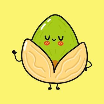 Simpatico personaggio divertente al pistacchio