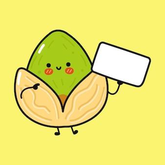 Simpatico e divertente pistacchio con poster