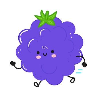 Simpatico e divertente blackberry in esecuzione