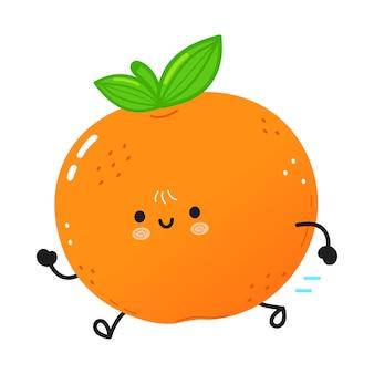 Simpatico mandarino in esecuzione divertente