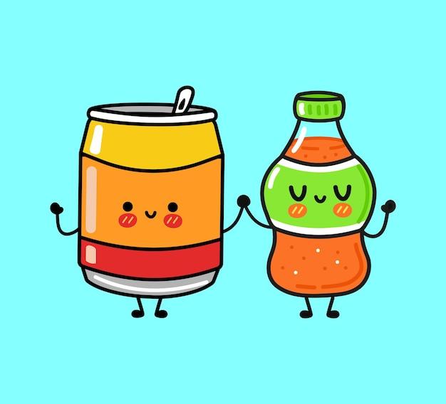 Simpatico personaggio divertente soda
