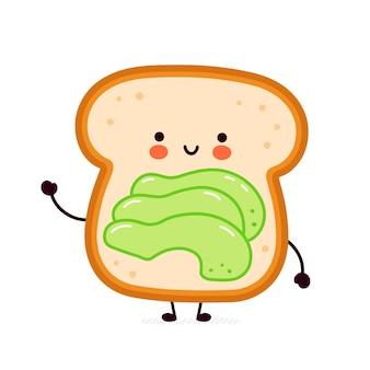 Toast carino e divertente con avocado