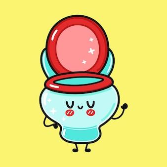 Simpatico personaggio divertente da toilette