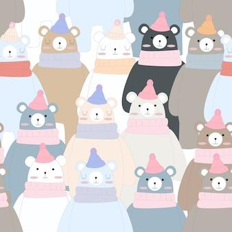 Simpatico orsacchiotto invernale divertente