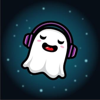 Simpatico personaggio fantasma che si gode la musica
