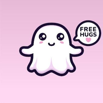 Simpatico personaggio fantasma vuole abbracciare