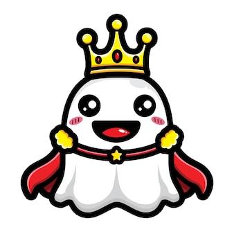 Simpatico design del personaggio del re dei fantasmi