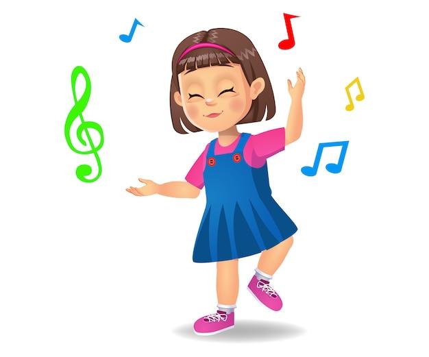 Ragazzo carino ragazza che balla alla musica