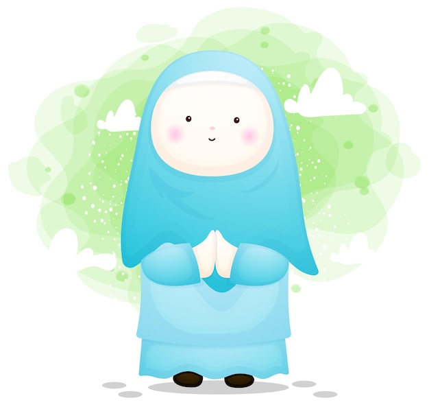 Ragazza carina musulmana per il ramadhan