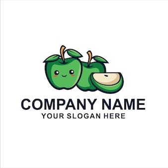 Simpatico logo della mela verde