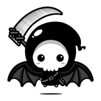 Disegno vettoriale carino grim reaper