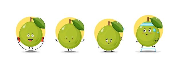 Simpatica collezione di personaggi guava