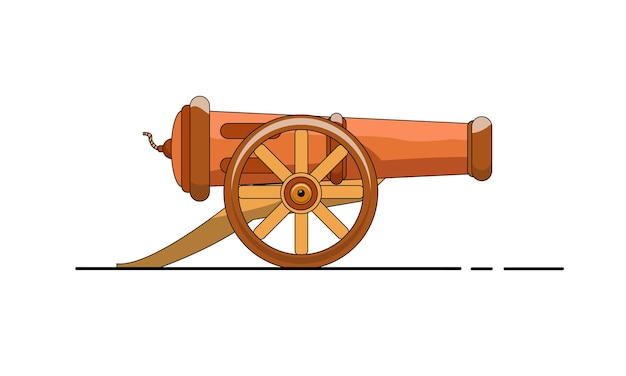 Simpatico mitragliere design piatto. disegno dell'illustrazione del fumetto vettoriale. isolato su sfondo bianco.