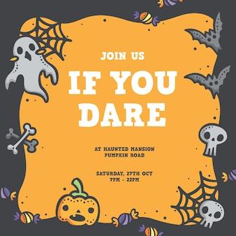 Carino design di poster di halloween
