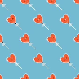 Caramelle a forma di cuore carino con motivo a lamina