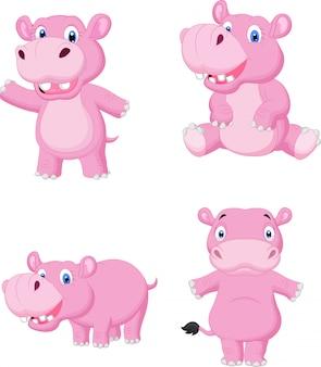 Cartone animato carino ippopotamo
