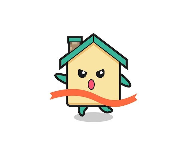 L'illustrazione della casa carina sta raggiungendo il traguardo, design carino