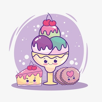 Biscotto gelato carino