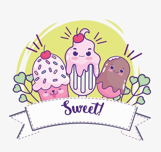 Cupcake frappè gelato carino