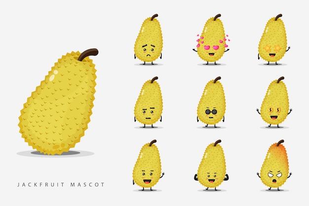 Simpatico set mascotte jackfruit