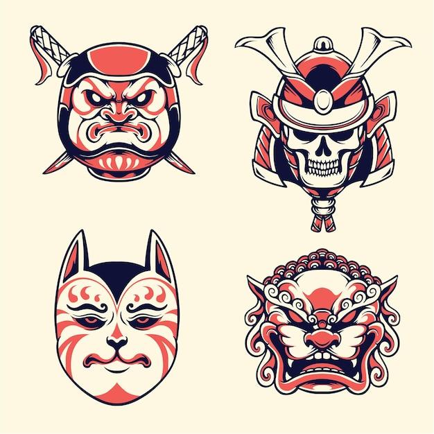 Simpatica maschera giapponese