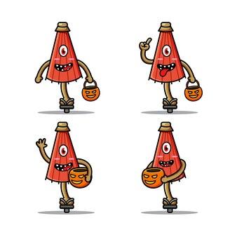 Simpatico kasabake o ombrello ghost japan per il personaggio di halloween