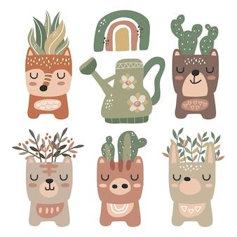 Simpatico design kawaii animal pot