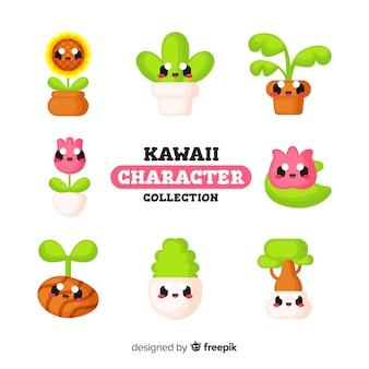 Simpatici personaggi kawaii Vettore Premium