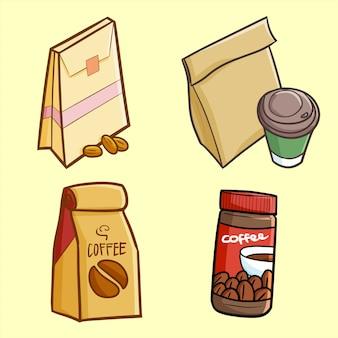 Simpatica confezione di caffè kawaii pronta per la vendita