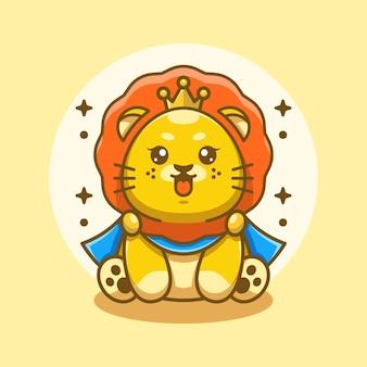 Simpatico re leone divertente