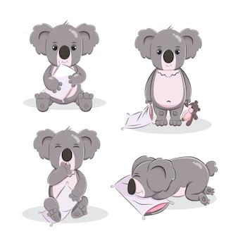 Carino koala cartoon illustrazione